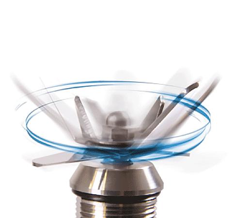lame rotative mixer